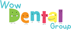 wow dental for kids logo footer